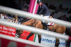 Clee Joe (GBR) - Utamaro d'Ecaussines<br /> Grand Prix Longines de la Ville de La Baule<br /> Longines Jumping International La Baule 2014<br /> © Hippo Foto - Dirk Caremans