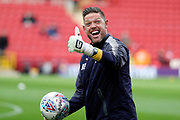 AFC Wimbledon goalkeeping coach Ashley Bayes warming up during the EFL Sky Bet League 1 match between Charlton Athletic and AFC Wimbledon at The Valley, London, England on 28 October 2017. Photo by Matthew Redman.
