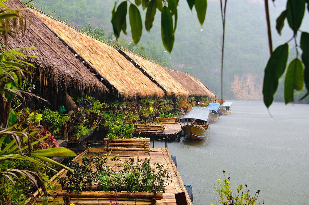 Kwai River Jungle Rafts in Kanchanaburi Province, Thailand