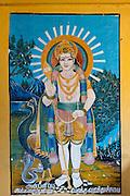 Lord Murgan, aka God Kataragama with his vehicle, a peacock. at Sangamankanda.