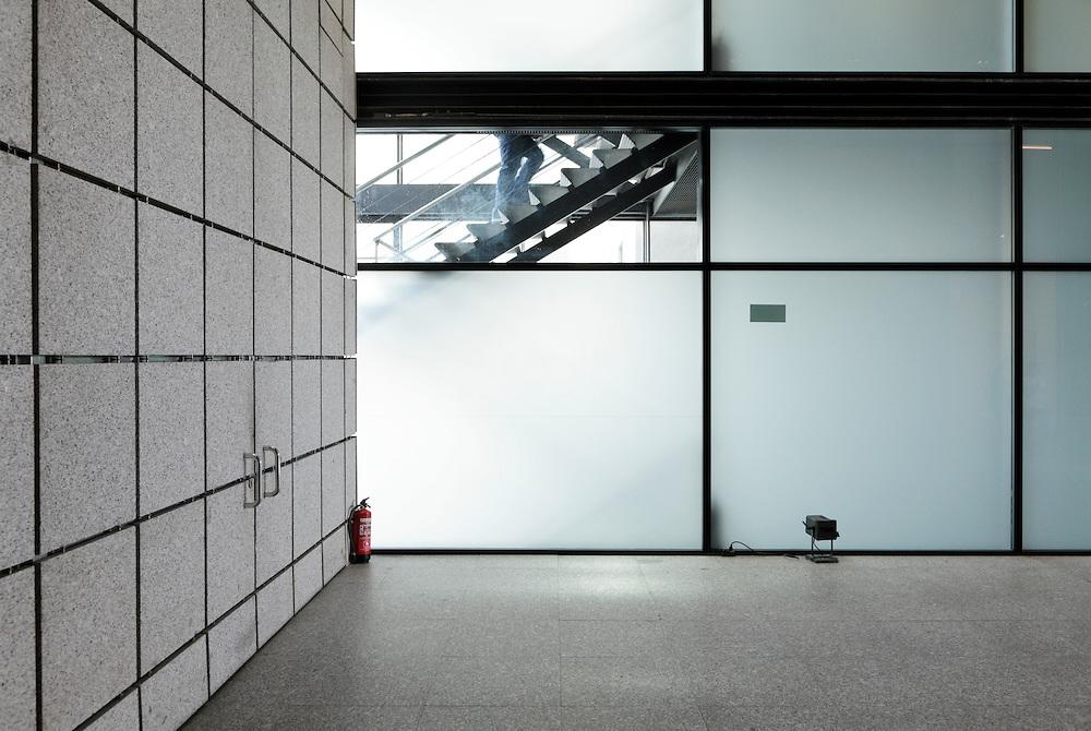 stairwell inside the Museo centro de arte Reina Sofia