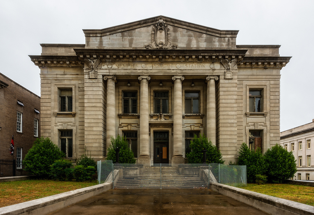 The abandoned historic Memphis Central Police Station in downtown Memphis, TN.
