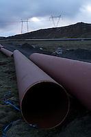 By Hellisheiðarvirkjun, Geothermal Power Plant, South Iceland.