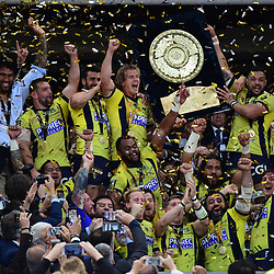 Joy for Clermont as they win the the Top 14 Final between RC Toulon and Clermont Auvergne  at Stade de France on June 4, 2017 in Paris, France. (Photo by Dave Winter/Icon Sport)