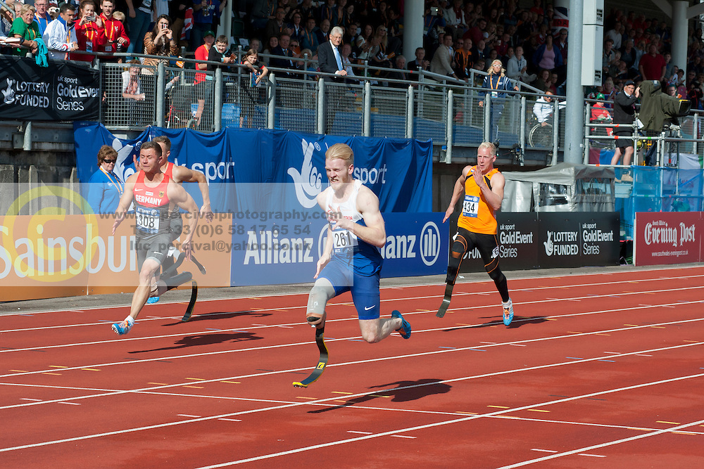 STRENG Felix, PEACOCK Jonnie, HERTOG Ronald, 2014 IPC European Athletics Championships, Swansea, Wales, United Kingdom