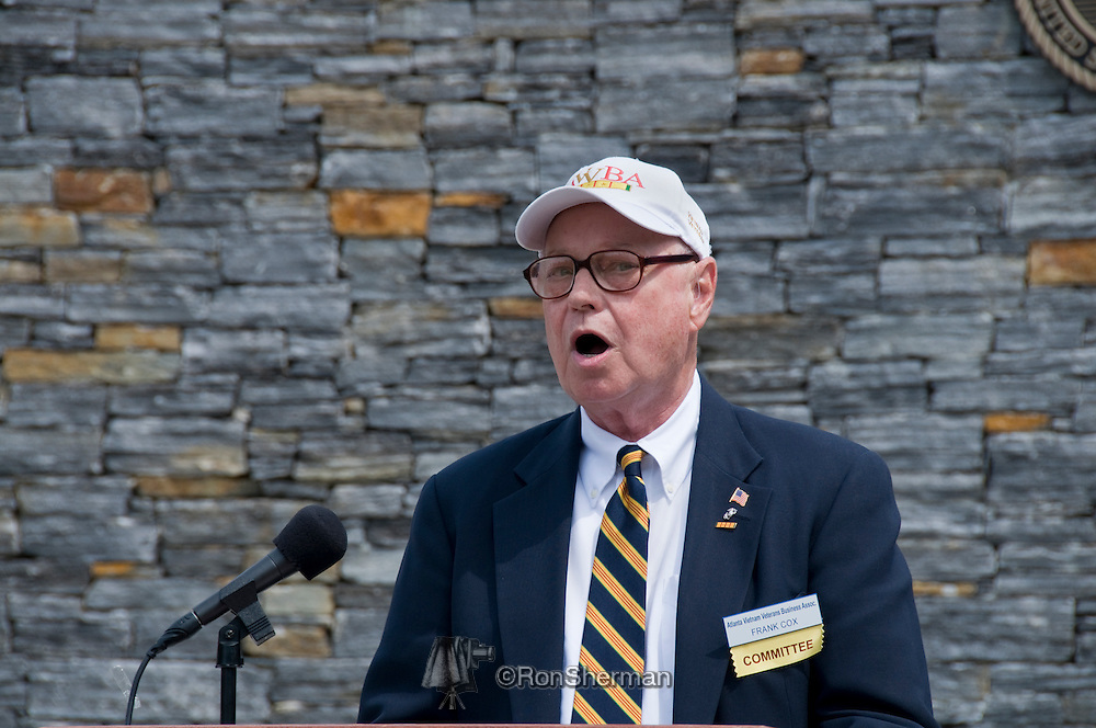 AVVBA Memorial for Army PFC Ted Britt at Georgia Veterans Memorial Park, Conyers, GA on May 26, 2011