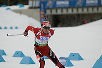 Ole Einar Bjoerndalen (NOR) competes in the World Cup Biathlon men's Sprint Competition on March 13, 2009