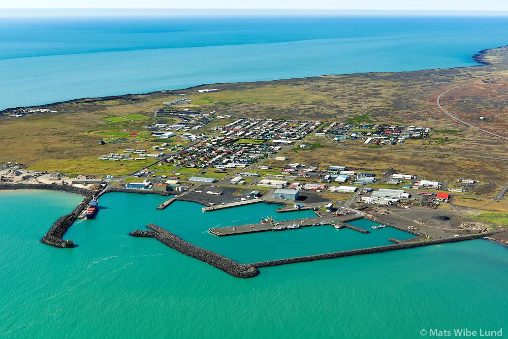 Þorlákshöfn séð til suðurs. Sveitarfélagið Ölfus / Thorlakshofn viewing south. Sveitarfelagid Olfus.