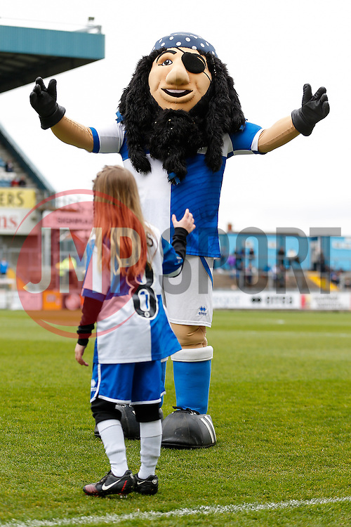 Mascots - Photo mandatory by-line: Rogan Thomson/JMP - 07966 386802 - 03/04/2015 - SPORT - FOOTBALL - Bristol, England - Memorial Stadium - Bristol Rovers v Chester - Vanarama Conference Premier.