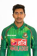 Soumya Sarkar, Bangladesh cricket team headshots ahead of their New Zealand tour. Cobham Oval, Whangarei. 21 December 2016. Copyright Image: Heath Johnson / www.photosport.nz