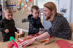 Pictured: Harris joined his friend Jordan to have some play-doh fun with Shirley-Ann Somerville <br />