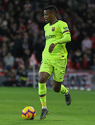 February 10, 2019 - Bilbao, Bilbao, Spain - Semedo of Barcelona in action during La Liga Spanish championship, , football match between Athletic de Bilbao and Barcelona, February 10th, in Nuevo San Mames Stadium in Bilbao, Spain. (Credit Image: © AFP7 via ZUMA Wire)