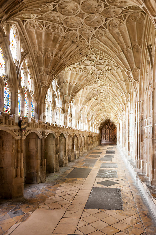 Inside the Cathedral at Gloucester , Gloucestershire , England , Britain , Uk