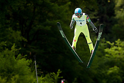 Miha Kveder of Slovenia during Ski Jumping Continental Cup 2018, on July 8, 2018 in Kranj, Slovenia. Photo by Urban Urbanc / Sportida