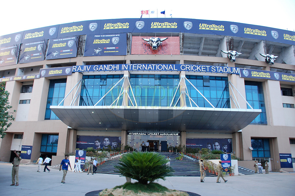 infront of stadium during match 11 of the Indian Premier League ( IPL ) between the Deccan Chargers and the Royal Challengers Bangalore held at the Rajiv Gandhi International Cricket Stadium in Hyderabad on the 14th April 2011..Photo by Saikat Das/BCCI/SPORTZPICS