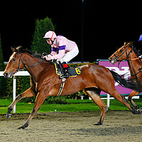 Triple Chocolate and Jimmy Quinn winning the 5.40 race