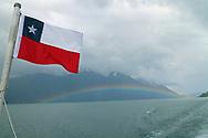 Lago Todos los Santos (Lake), Chile, Patagonia, Rainbow
