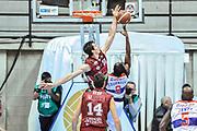 DESCRIZIONE : Final Eight Coppa Italia 2015 Desio Quarti di Finale Umana Reyer Venezia - Enel Brindisi<br /> GIOCATORE : David Cournooh Benjamin Ortner<br /> CATEGORIA : Tiro Penetrazione Sottomano Controcampo Stoppata<br /> SQUADRA : Umana Reyer Venezia<br /> EVENTO : Final Eight Coppa Italia 2015 Desio<br /> GARA : Umana Reyer Venezia - Enel Brindisi<br /> DATA : 20/02/2015<br /> SPORT : Pallacanestro <br /> AUTORE : Agenzia Ciamillo-Castoria/L.Canu