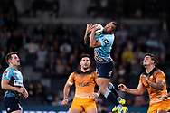 SYDNEY, AUSTRALIA - MAY 25: Waratahs player Kurtley Beale (15) takes the high ball at week 15 of Super Rugby between NSW Waratahs and Jaguares on May 25, 2019 at Western Sydney Stadium in NSW, Australia. (Photo by Speed Media/Icon Sportswire)