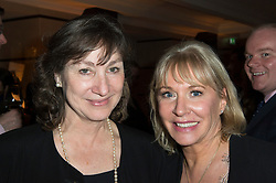 © Licensed to London News Pictures. 08/04/2014. London, UK. Nadine Dorries at the launch party of her first novel, The Four Sisiters. The party took place at the Intercontinental Hotel at Westminster. Nadine with her editor, Risie De CourcyPhoto credit : Simon Ford/LNP