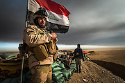 Iraqi soldiers on the front line in the village of Haj Ali on December 7, 2016.