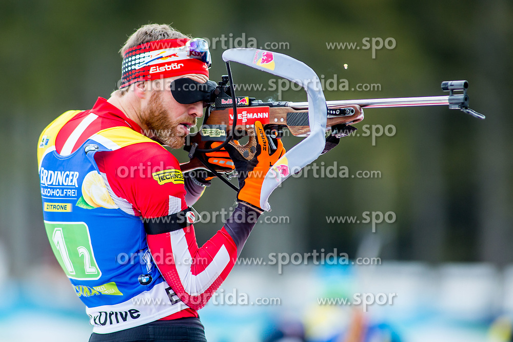 Simon Eder (AUT) during Single Mixed Relay at day 1 of IBU Biathlon World Cup 2018/19 Pokljuka, on December 2, 2018 in Rudno polje, Pokljuka, Pokljuka, Slovenia. Photo by Ziga Zupan / Sportida