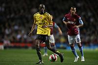 Photo: Rich Eaton.<br /> <br /> Aston Villa v Arsenal. The Barclays Premiership. 14/03/2007. Arsenal goal scorer Abou Diaby left