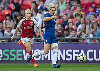 Football - SSE Women's FA Cup Final - Arsenal Women vs. Chelsea Ladies<br /> <br /> Millie Bright (Chelsea Ladies FC) steers the ball back to her goalkeeper under pressure from Beth Mead (Arsenal Women FC) at Wembley Stadium.<br /> <br /> COLORSPORT/DANIEL BEARHAM