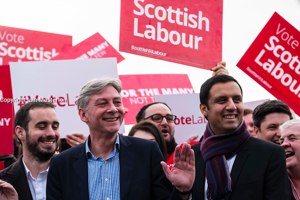 Rutherglen, Scotland, United Kingdom. 19 November, 2017. Scottish Labour Party MSPs, MPs and activists celebrate with their new Leader, Richard Leonard at Fernhill Community Centre in Rutherglen. Richard Leonard beat fellow MSP Anas Anwar (right) for the Leadership.
