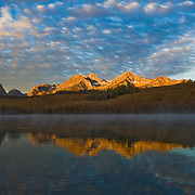 Sunrise Little red fish Lake , Stanley