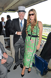 PIERS & CELIA MORGAN at the first day of the 2014 Royal Ascot Racing Festival, Ascot Racecourse, Ascot, Berkshire on 17th June 2014.