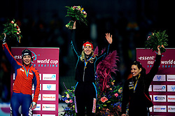 24-02-2008 SCHAATSEN: FINALE ISU WORLD CUP: HEERENVEEN<br /> Paulien van Deutekom, Anni Friesinger en Shannon Rempel<br /> ©2008-WWW.FOTOHOOGENDOORN.NL