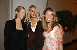Left to right, DARCY SHAW, MRS SEB BISHOP she was model Heidi Wichlinski and TANA RAMSAY wife of chef Gordon Ramsay<br />