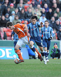 BLACKPOOL, ENGLAND - Monday, January 21, 2008: Charlton Athletic's Zheng Zhi in action against Blackpool during the Championship match at Bloomfield Road. (Photo by David Rawcliffe/Propaganda)