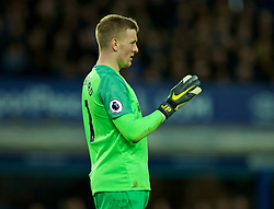 LIVERPOOL, ENGLAND - Sunday, March 3, 2019: Everton's goalkeeper Jordan Pickford during the FA Premier League match between Everton FC and Liverpool FC, the 233rd Merseyside Derby, at Goodison Park. (Pic by Paul Greenwood/Propaganda)