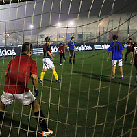 BEIJING, OCT.18, 2014 : Song Yonglin, 14, with his team during a soccer match on a Saturday evening . He spends every weekend taking extra school lessons in order to improve his scores which cost his parents about 4-5000 Yuan/month. He would like to switch to the International school in Beijing  and study economics later on in the US.