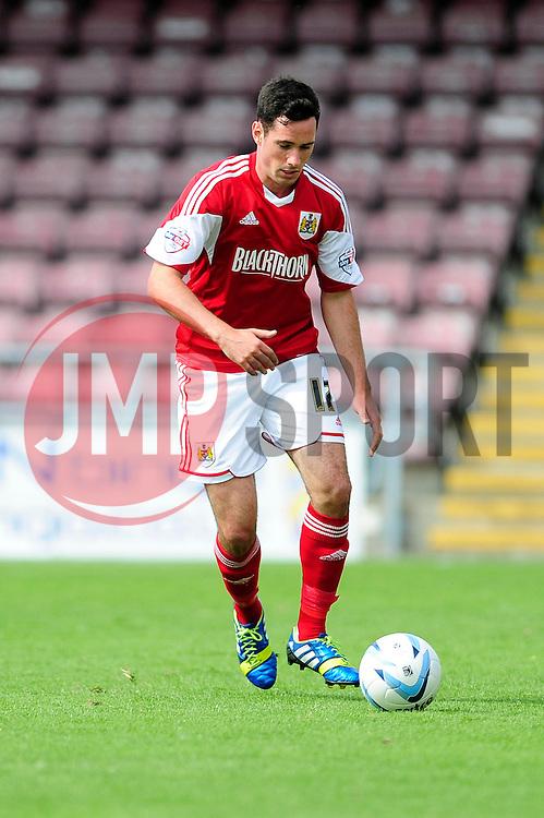 Bristol City's Greg Cunningham  - Photo mandatory by-line: Dougie Allward/JMP - Tel: Mobile: 07966 386802 11/08/2013 - SPORT - FOOTBALL - Sixfields Stadium - Sixfields Stadium -  Coventry V Bristol City - Sky Bet League One