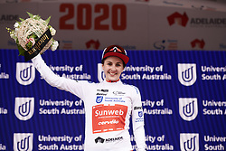 Juliette Labous (FRA) is the best young rider at Stage 1 of 2020 Santos Women's Tour Down Under, a 116.3 km road race from Hahndorf to Macclesfield, Australia on January 16, 2020. Photo by Sean Robinson/velofocus.com