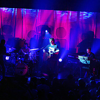 17.9.2003.  Starsailor in concert at the Aberfeldy Town Hall.<br />James Walsh on Vocals and guitar, James Stelfox on bass guitar, Ben Byrne drums and Barry Westhead on keyboards.<br /><br />Picture by John Lindsay .<br />COPYRIGHT: Perthshire Picture Agency.<br />Tel. 01738 623350 / 07775 852112.