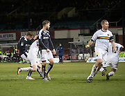 Dundee&rsquo;s Greg Stewart scores the third - Dundee v Dumbarton, William Hill Scottish Cup Fifth Round at Dens Park<br /> <br />  - &copy; David Young - www.davidyoungphoto.co.uk - email: davidyoungphoto@gmail.com