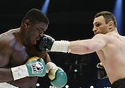 Vitali Klitschko regains the WBC heavyweight crown with a TKO win over Samuel Peter. Berlin, Germany, 11/10/2008..