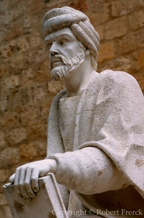 SPAIN, ANDALUSIA, CORDOBA Statue of Averros, a medieval Muslim philosopher (1126-1198) famous throughout the Islamic World