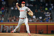 PHOENIX, AZ - JUNE 26:  Nick Pivetta #43 of the Philadelphia Phillies delivers a pitch against the Arizona Diamondbacks during the first inning at Chase Field on June 26, 2017 in Phoenix, Arizona.  (Photo by Jennifer Stewart/Getty Images)