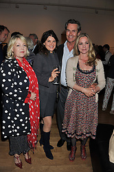 Left to right, JO FAIRLEY, GERALDINE HARMSWORTH, RUPERT EVERETT and LADY LIZA CAMPBELL  at a private view of work by the late Rory McEwen - The Colours of Reality, held at the Shirley Sherwood Gallery, Kew Gardens, London on 20th May 2013.