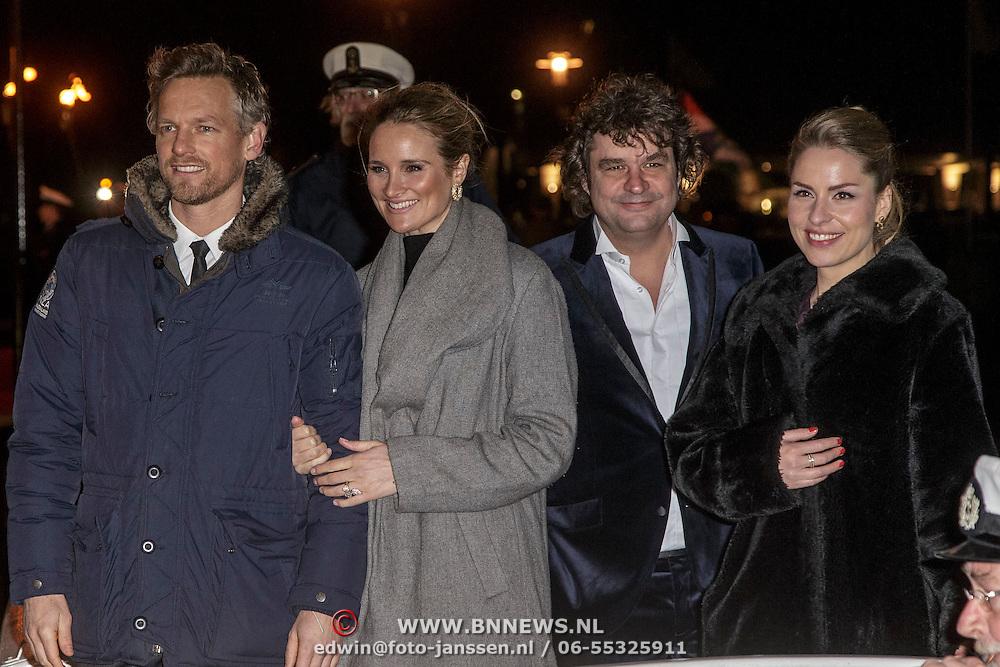 NLD/Amsterdam/20150126 - Premiere Michiel de Ruyter, cast, Barry Atsma, Lieke van Lexmond, Frank Lammers en Sanne Langelaar