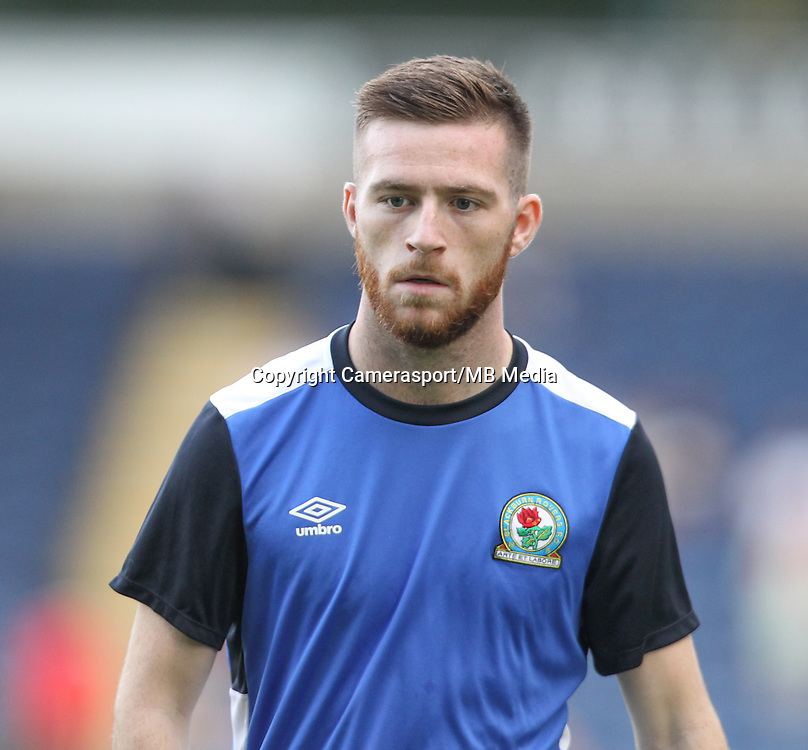 Blackburn Rovers' Jack Byrne during the warm up<br /> <br /> Photographer Alex Dodd/CameraSport<br /> <br /> The EFL Cup Second Round - Blackburn Rovers v Crewe Alexandra - Tuesday 23 August 2016 - Ewood Park - Blackburn<br />  <br /> World Copyright &copy; 2016 CameraSport. All rights reserved. 43 Linden Ave. Countesthorpe. Leicester. England. LE8 5PG - Tel: +44 (0) 116 277 4147 - admin@camerasport.com - www.camerasport.com