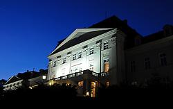 THEMENBILD - Missbrauchsvorwuerfe gegen ehemalgie Erzieher des aufgelassenen Kinderheims Wilhelminenberg. Die Anschuldigungen reichen von Demuetigungen, Missbrauch und Gewalt bis zu Massenvergewaltigungen. Ausserdem vermutet man jetzt auch Todesfaelle. Die Vorfaelle ereigneten sich in den 1970er Jahren. Das Foto wurde am Abend des 18. Oktober 2011 aufgenommen, im Bild Schloss Wilhelminenberg zur blauen Stunde // suspicion of malpractice again child care worker in former children's home wilhelminenberg. The alligations range from indignities, abuse, violence to mass rape. Beside, there are guesswork about deaths now. The incidents happened in the 70s. The Photo was taken on the evening of October the 18th 2011, Wien, AUT, EXPA Pictures © 2011, PhotoCredit: EXPA/ M. Gruber