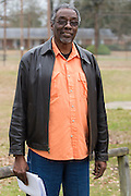Samuel E. Mims poses for a portrait after a meeting with the EPA, Army and local residents to discuss the disposal of 15 million pounds of M6 located at Camp Minden in Minden, Louisiana on March 11, 2015. (Cooper Neill for The New York Times)