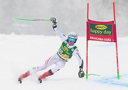 Fabio Gstrein of Austria during 1st run of Men's Giant Slalom race of FIS Alpine Ski World Cup 57th Vitranc Cup 2018, on 3.3.2018 in Podkoren, Kranjska gora, Slovenia. Photo by Urban Meglič / Sportida