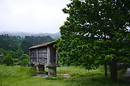 "An old ""espigueiro"" , a small granary used to save cereal."